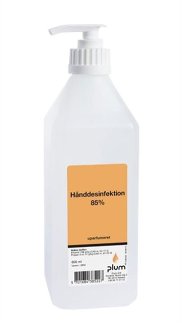 Hånddesinfektion 85% 600 ml inkl. pumpe